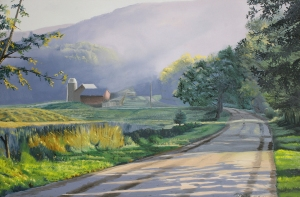 Morning Mist Oil on canvas 24x36