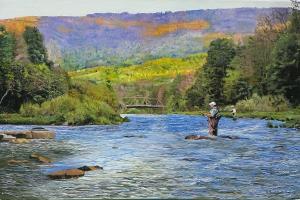 Schoharie Creek Oil on canvas 24x36
