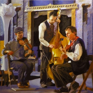 The Russet Trio oil on canvas 24x24