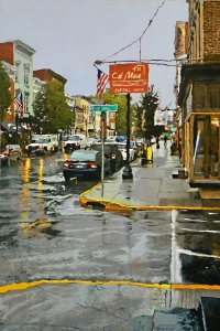 Warren and City Hall Place Oil on canvas 36x24