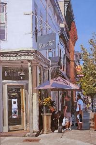 Warren and Third Oil on canvas 36x24