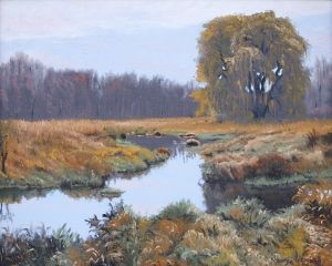 Lone Willow Oil on canvas panel 16x20
