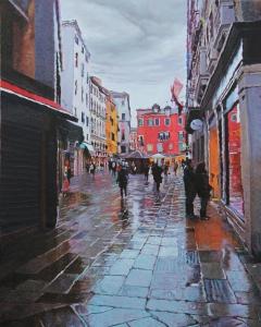 Campo San Bartolomeo 30x24 oil on canvas