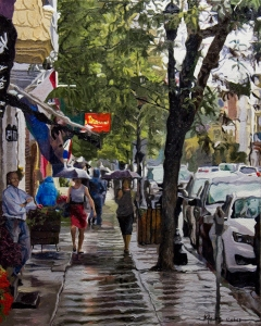 Rain #5 20x16 oil on canvas price: $1,850.00