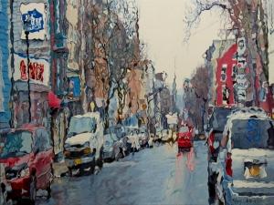 Rain #7 18x24 Price: $2,500