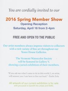 2016 Spring Member Show